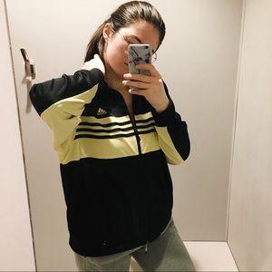 Adidas Yellow Black ZIP up Jacket